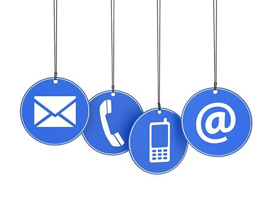 Image contact téléphone, email et adresse postale